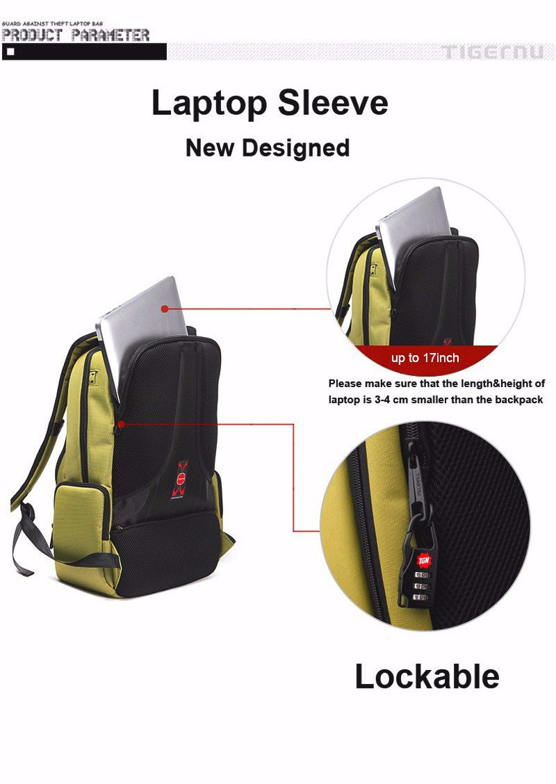Waterproof Nylon Backpack, Female Unisex Men's Backpacks with Dual Layer Zipper - FanFreakz