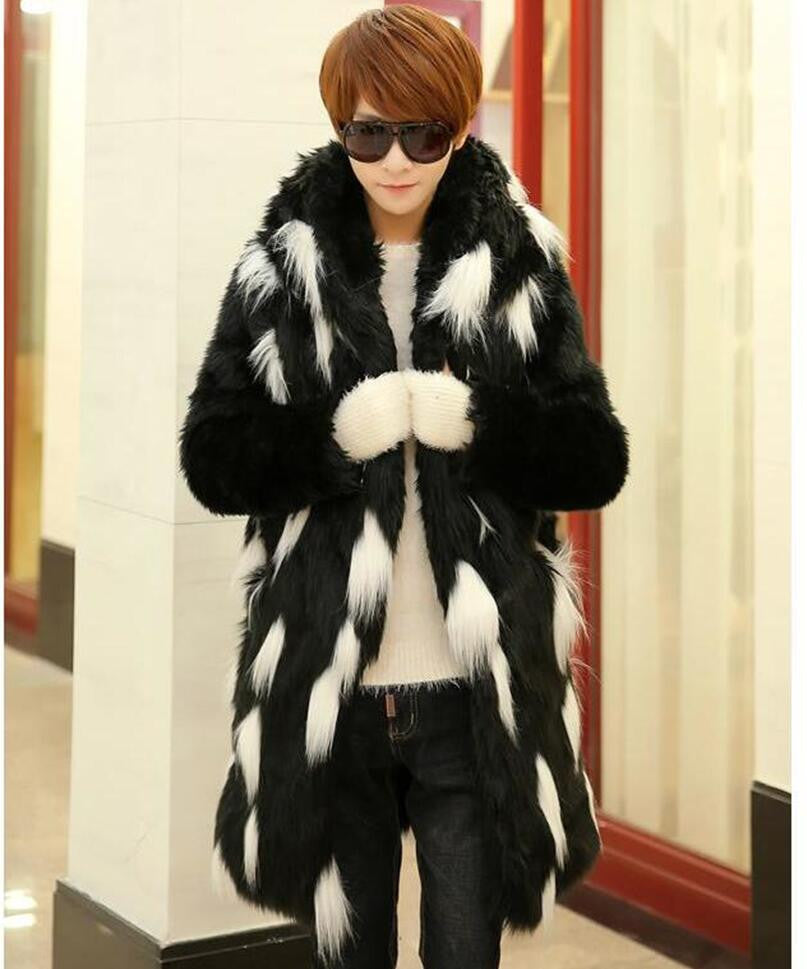 Black and White Fur Spot Fashionable Men Jacket - FanFreakz