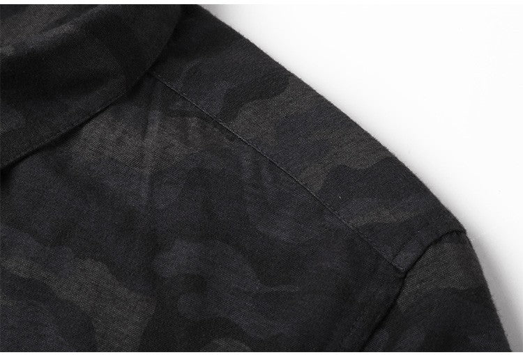 Casual Camouflage Men Slim Fit Shirt - FanFreakz