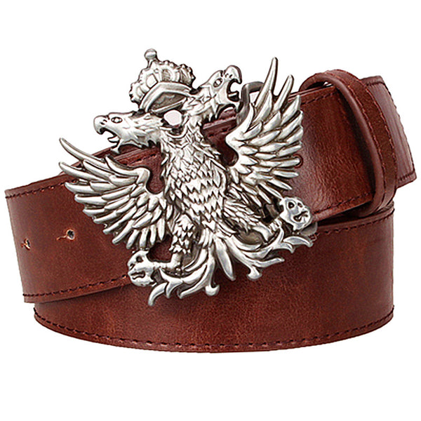 Double Eagle Buckle Men Belt