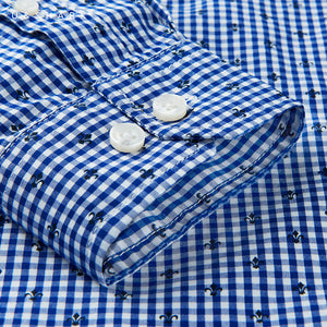 Long Sleeve Business Slim Fit Plaid Men Shirt - FanFreakz