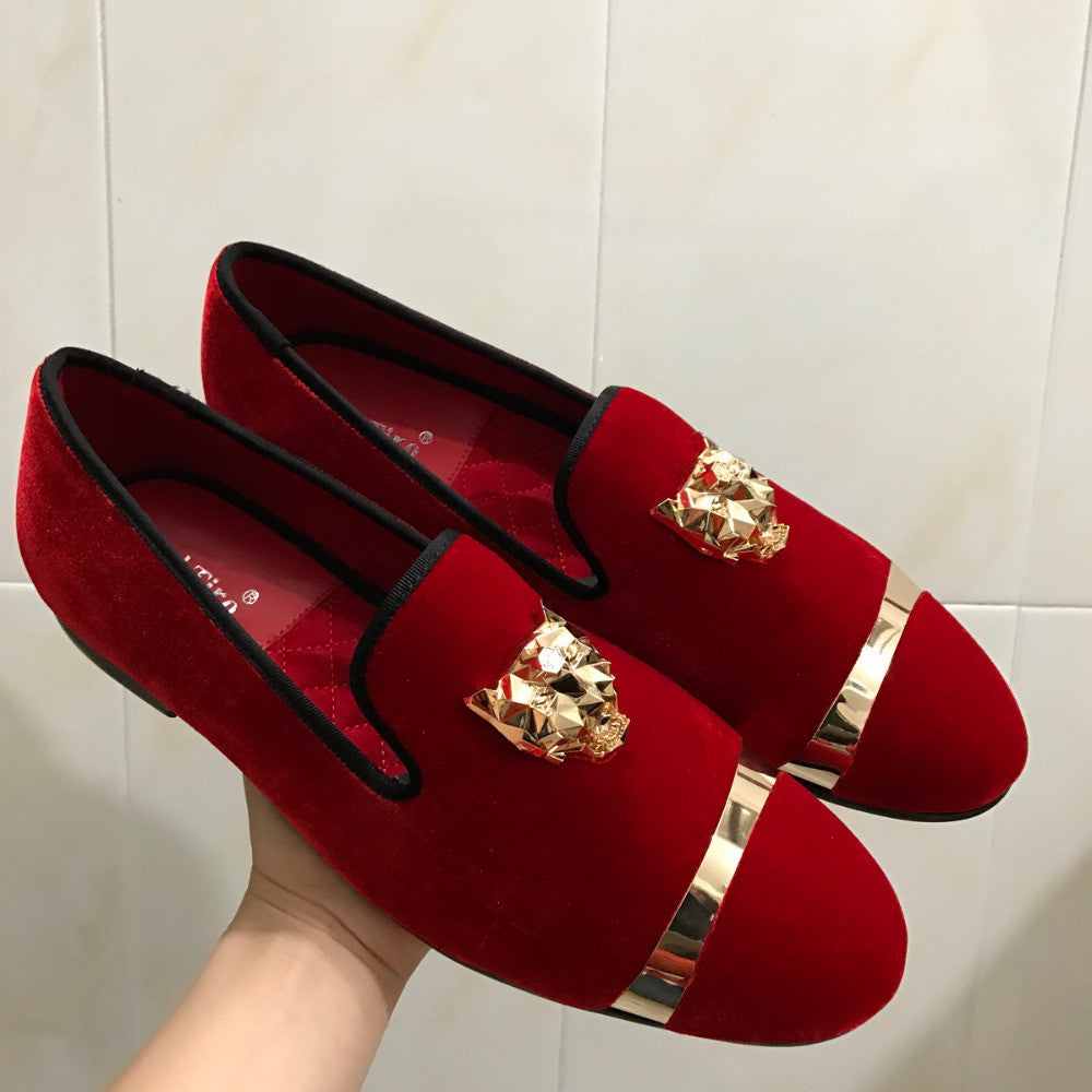 men loafers with gold buckle and tiger pin details fanfreakz