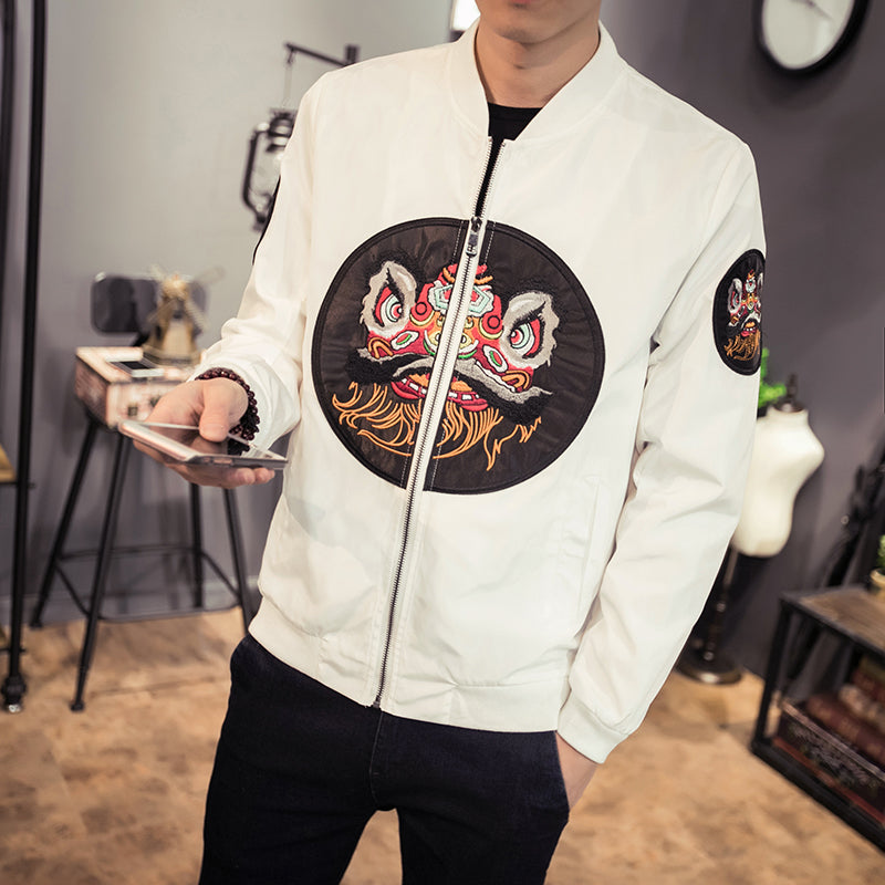 Barongsai Patch Men Slim Fit Jacket - FanFreakz