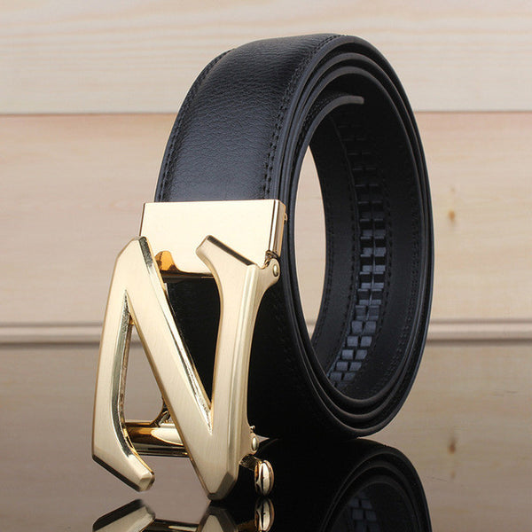 Big Z Buckle Style Men PU Leather Belt
