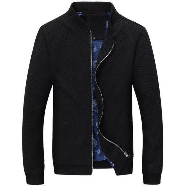 Embossed Pattern Men Slim Fit Jacket