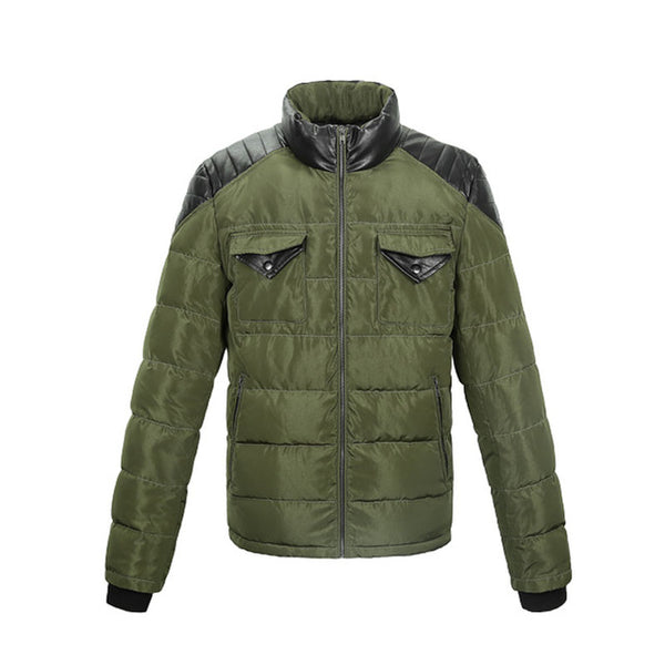 Double Pocket Men Army Green Fashion Jacket For Autumn and Winter