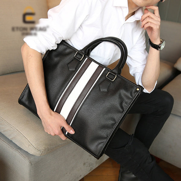 British Classic Style Business Men Briefcase with Shoulder Strap