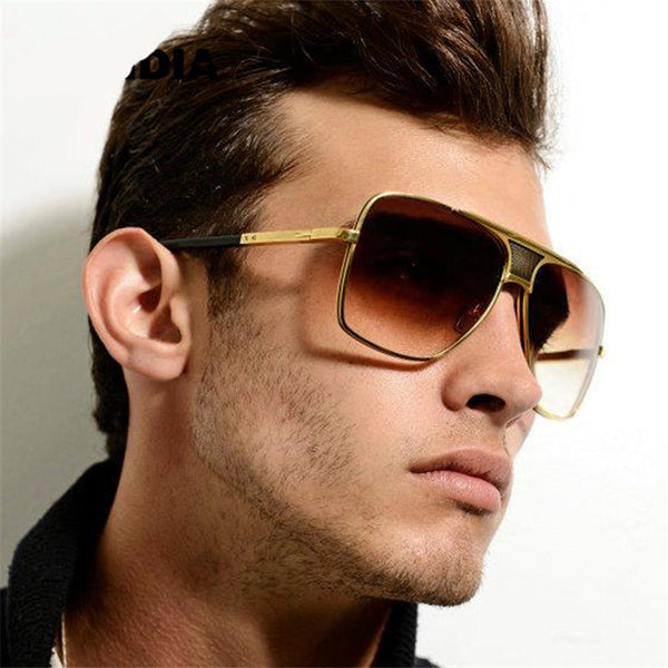 Aviator Oversized Square Men Vintage Sunglasses