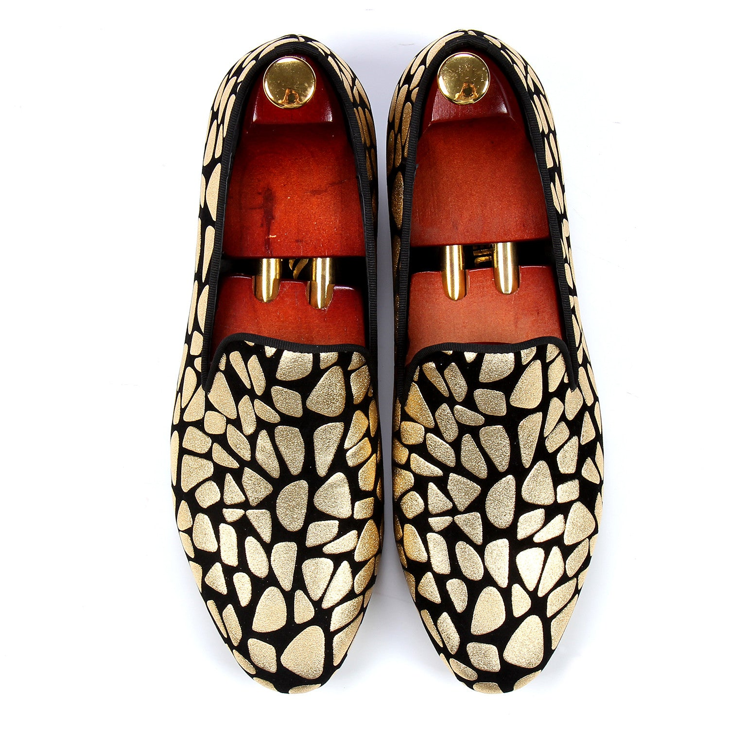 Golden Mozaic Style Men Loafers Shoes - FanFreakz