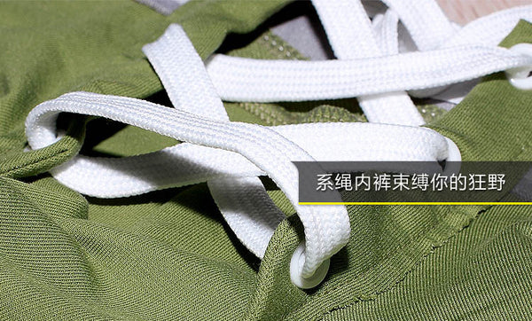 Drawstring Cotton Sexy Underwear Men Boxer Pants