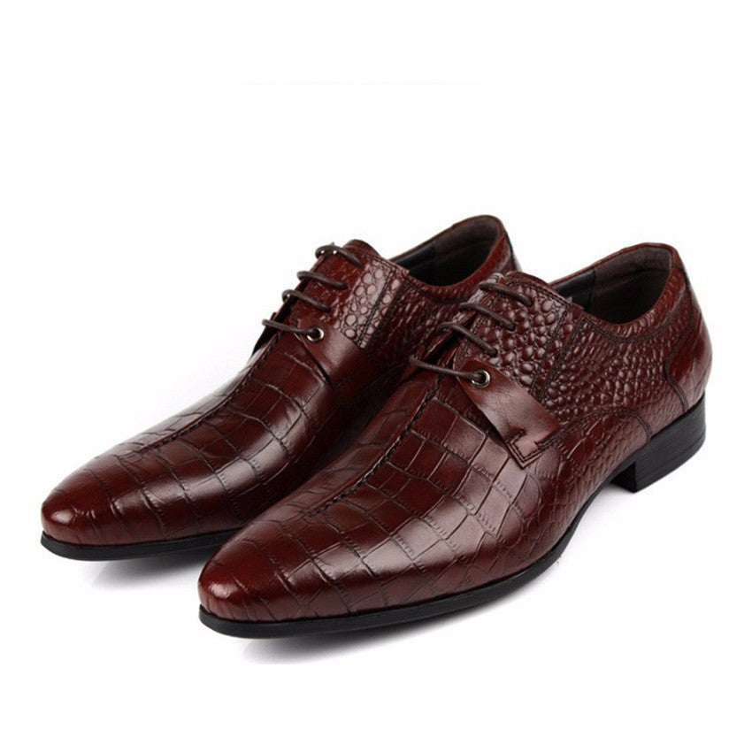 Luxury Croco Pattern Men Derby Shoes - FanFreakz