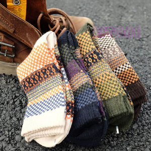 Casual Mens Warm Winter Cashmere Rabbit Wool Blend Men Socks 4 Pairs/Lot - FanFreakz