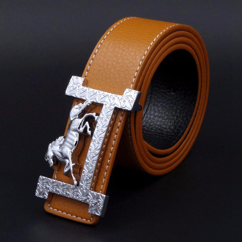 Horse in H Buckle Men Belt - FanFreakz