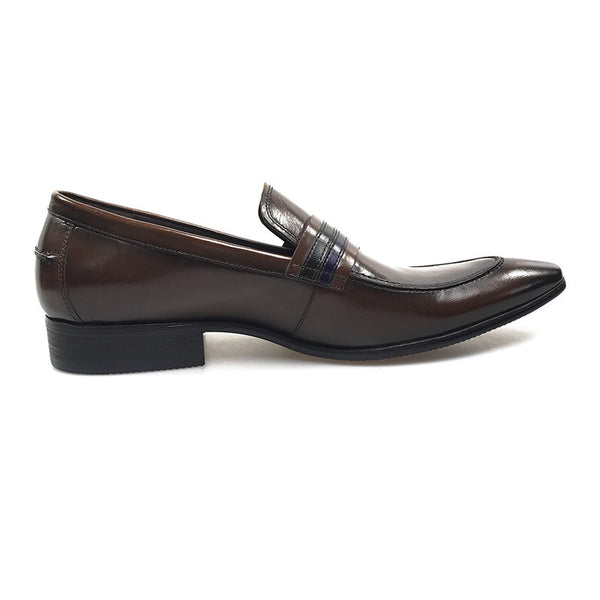 Dark Brown Italian Classic Style Men Loafer Shoes