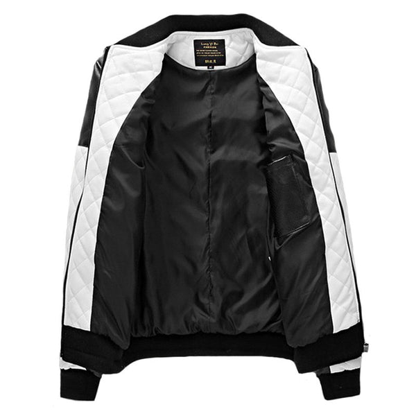 Black and White Slim Fit Men Jacket