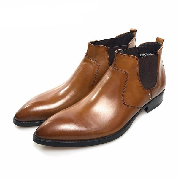 British Gentlemen Secret Agent Style Men Chelsea Boots