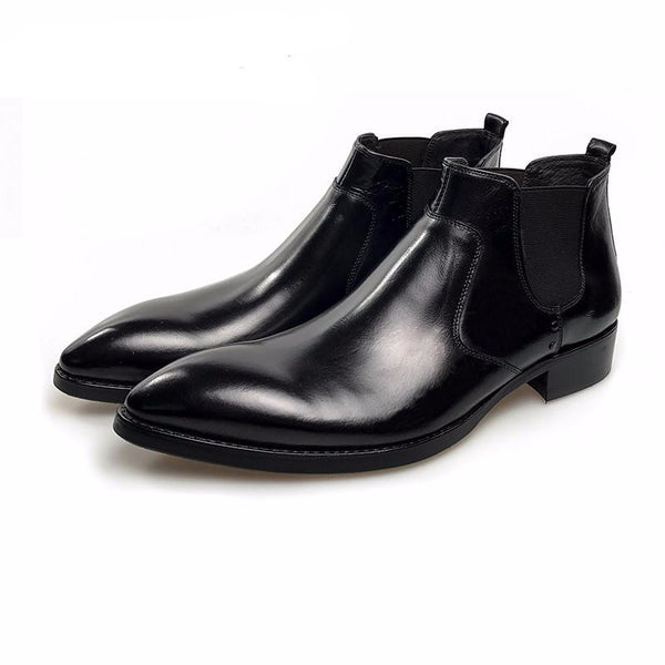 Formal Style Pointed Toe Men Ankle Boots