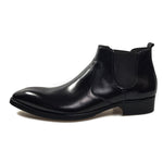 Formal Style Pointed Toe Men Ankle Boots - FanFreakz