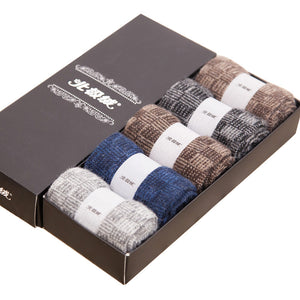 Wool Cashmere Breathable Men Socks 5 Pairs/Lot - FanFreakz