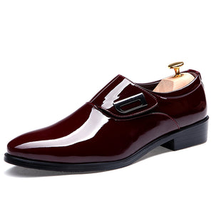 Glossy PU Leather Men Shoes For Formal or Party Events - FanFreakz