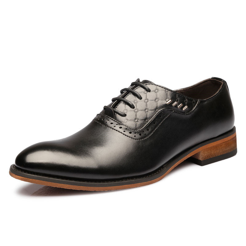 Simple Minimalist Style Pointed Toe Men Oxford Shoes - FanFreakz