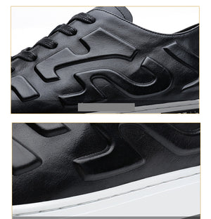Stereo Embossing Mens Casual Sneaker Shoes - FanFreakz