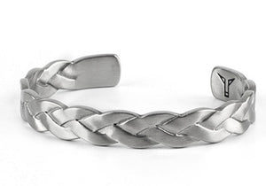 Braided Steel Style Twist Metal Vintage Men Cuff Bracelets - FanFreakz