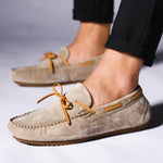 Contrast Tie Men Moccasin Loafers Driving Shoe - FanFreakz