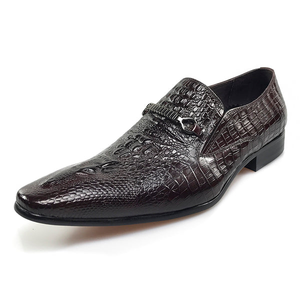 Luxury Business Style Croco Pattern Men Loafers Shoes