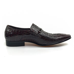 Luxury Business Style Croco Pattern Men Loafers Shoes - FanFreakz