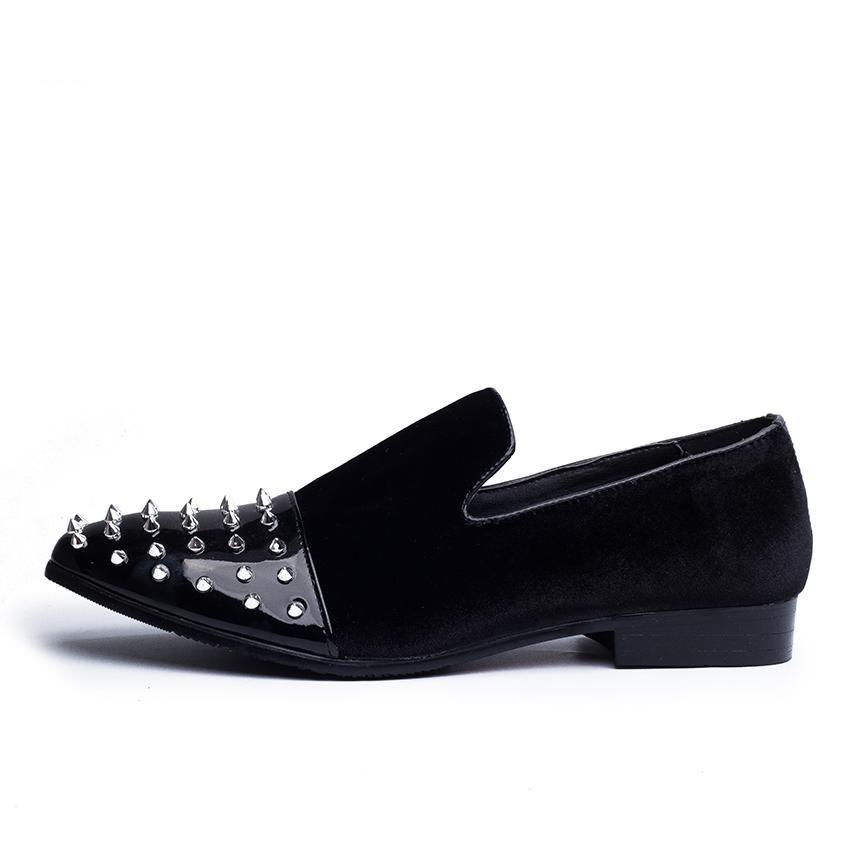 Spike Details on Toe Men Loafer Shoes - FanFreakz