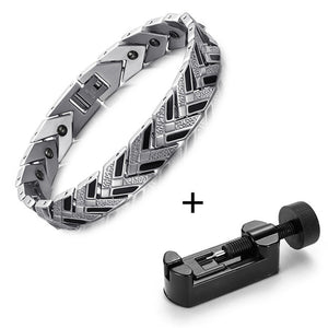 Health Magnetic Link Arrow Shape Men Bracelet - FanFreakz