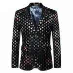 Colorful Plaid Men Slim Fit Men Blazer For Fashion Stage Costumes, Party or Singers - FanFreakz