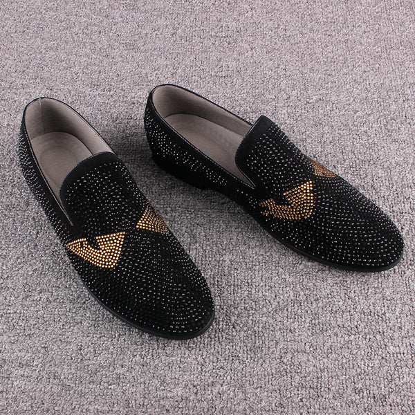 Italian Style Men Loafers With Pin Details