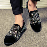 Rhinestone Men Loafers Shoe with The Clean Toe