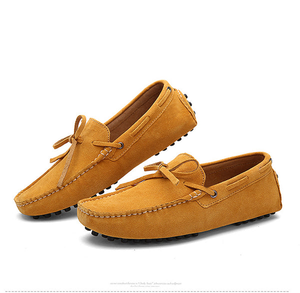 Men Nubuck Loafers Shoes Moccasins