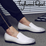 Simple Anyaman Pattern Men Loafers - FanFreakz