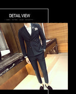Double Breasted Fancy Side Pocket Men Slim Fit Suit - FanFreakz