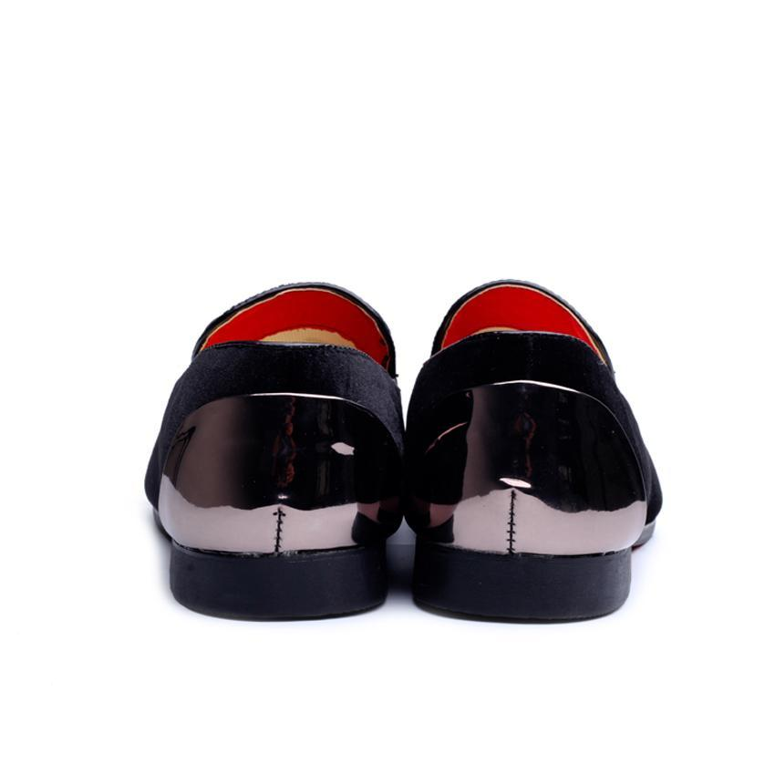 Shiny Heel and Toe Men Simple Loafer Shoes - FanFreakz