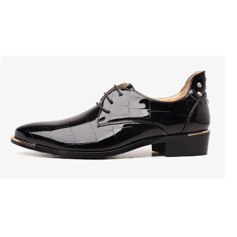 Glossy Leather Croco Embossed Men Brogues Dress shoes - FanFreakz