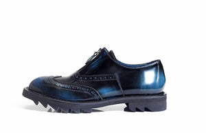 Carved Wingtip Retro Big Sole Men Genuine Leather Round Toe Brogue Shoes - FanFreakz