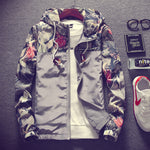 Hip Hop Style Floral Hooded Men Bomber Jacket - FanFreakz
