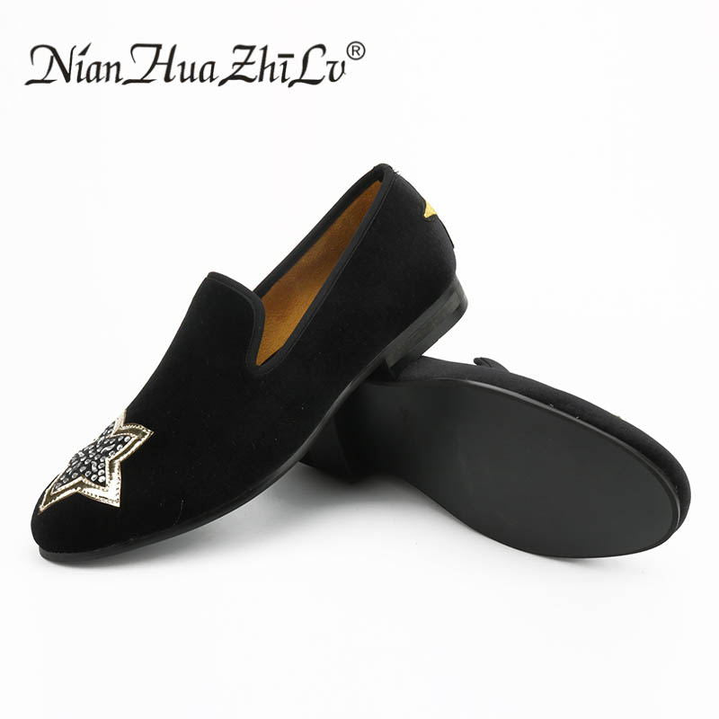 Stars On Toe and Heel Details Men Loafers Shoes - FanFreakz