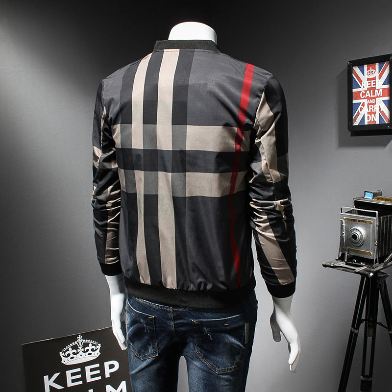 fb425fa0f Plaid Printed With Red Line Casual Fashion Men Bomber Jacket – FanFreakz
