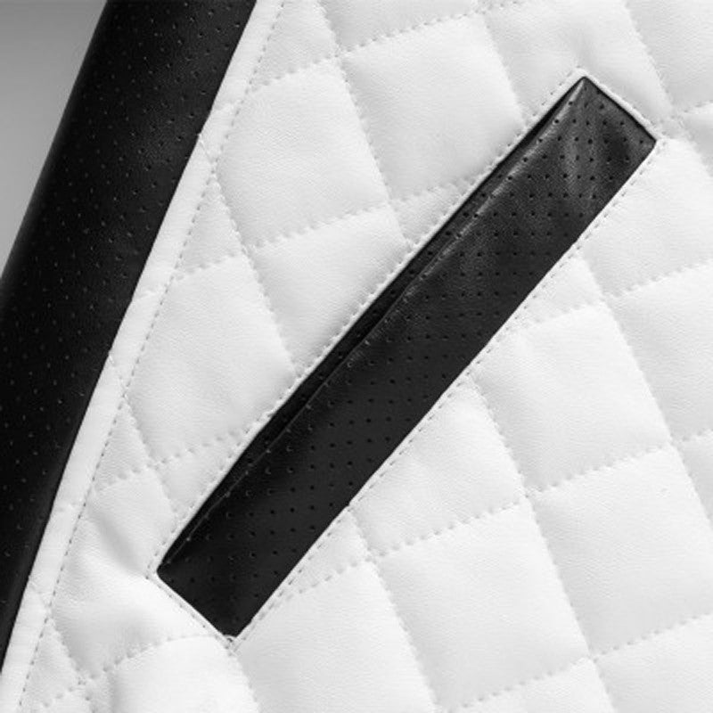 Black and White Slim Fit Men Jacket - FanFreakz
