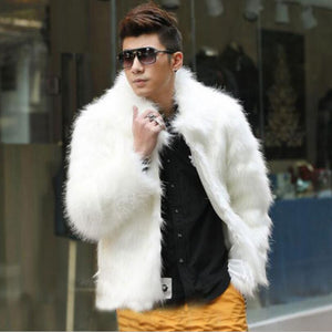 Men Winter Gangster Fox Fur Style Jacket - FanFreakz