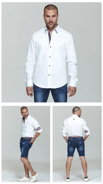 Italian Style Long Sleeves Men Shirts - FanFreakz