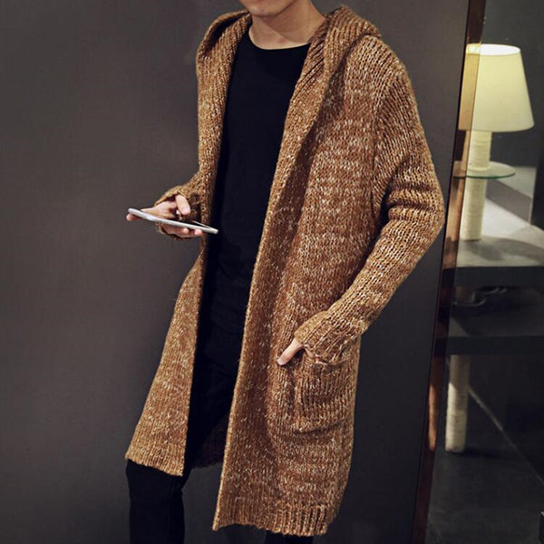 Autumn Winter Loose Men Knitted Sweater Coat - FanFreakz