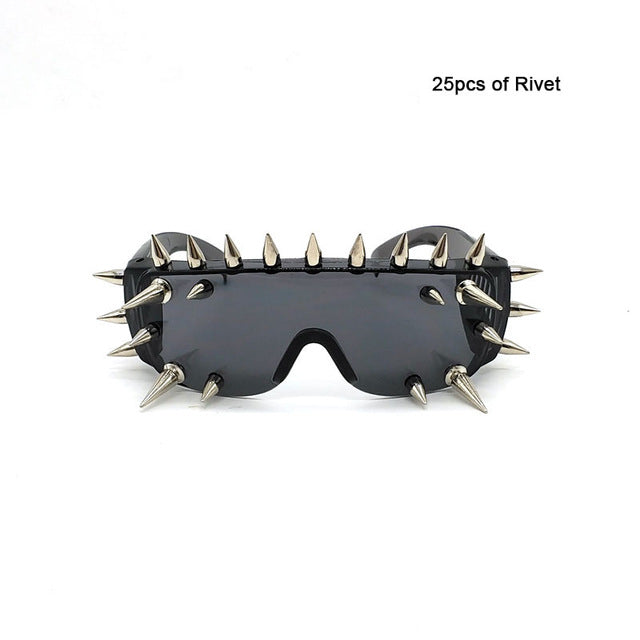 Punk Rivet Unisex Men and Women Sunglasses