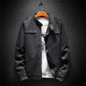 Military Style Minimalist Men Bomber Jacket